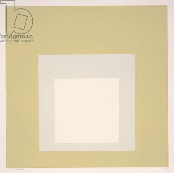 Homage to the Square I-Sb, 1968 (silkscreen)