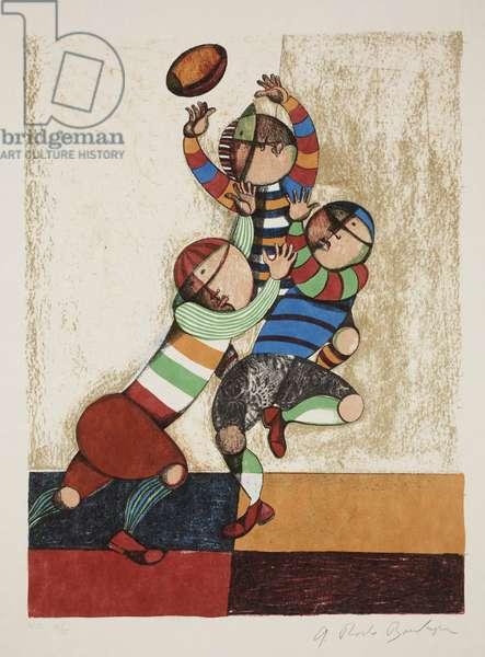 Le Dimanche Matin, 1975 (colour litho)