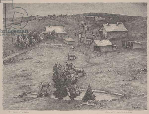 C-Bar Ranch (lithograph)