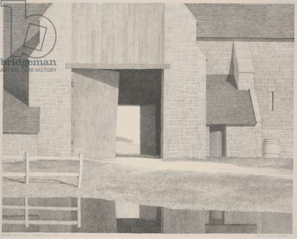 Ablington Manor Farm, Gloucestershire, c.1930 (litho)
