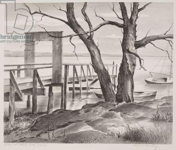 Pier at White Rock, 1941 (litho)
