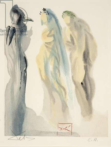 Canto 76 - The Sphere of Venus, c.1960 (woodcut)