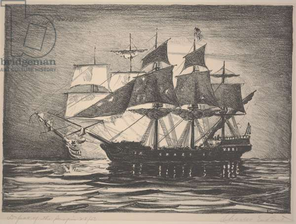 Defeat of the Serapis, c.1933-1934 (lithograph)