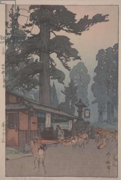 Way to the Kazuga Shrine, 1939 (polychrome woodblock print)
