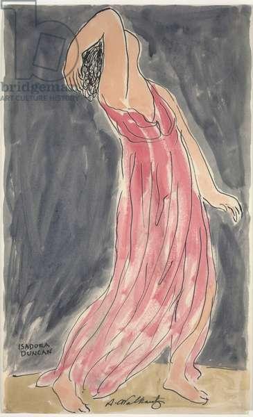 Isadora Duncan Dancing, c.1906-27 (ink & w/c on paper)