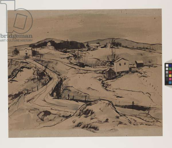 Elevation - 2700, 1948 (tempera on brown paper)