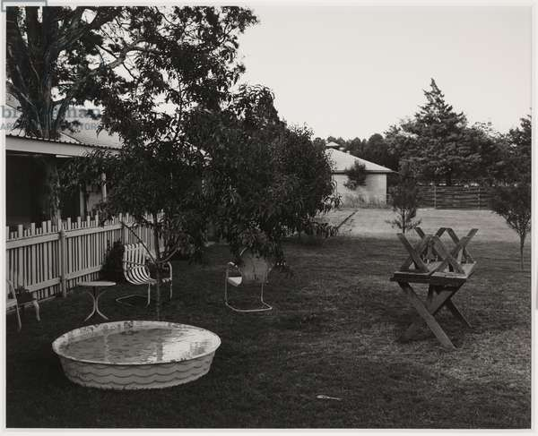 Backyard of My Parents' Home, 2201 Wenonah, Wichita Falls, Texas, 1984, printed 1988 (gelatin silver print)