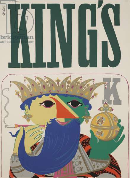 King's, 1954 (colour litho)