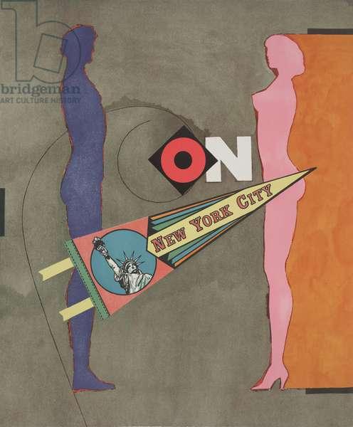 On, 1971 (colour litho)