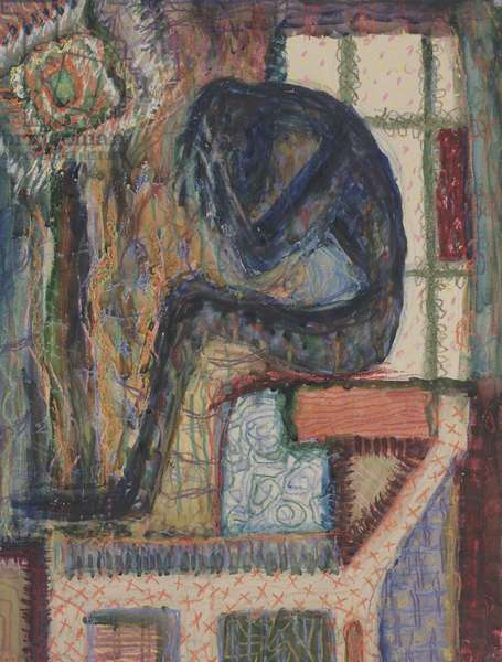 Man with Soul Indigestion, 1937-1938 (watercolor and crayon)