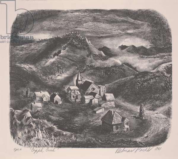 Cripple Creek, 1941 (litho)