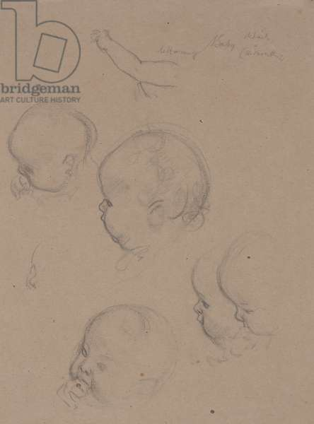 Study for Baby's Head (pencil on paper)