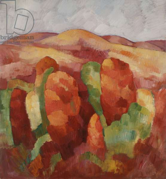 Mountains, no. 19, 1930 (oil on board)
