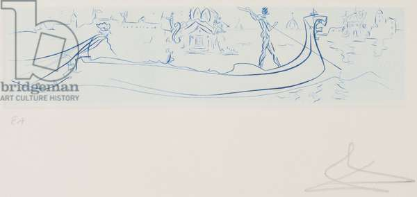 Visions of Venice (Gondola), 1977 (etching, mono-tone; ink, paper)