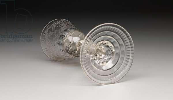 Goblet, c.1740-60 (non-lead glass)