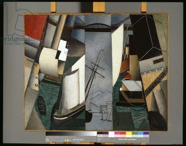 The Harbour, 1912 (oil on canvas)