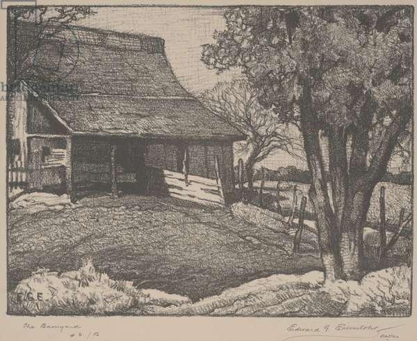 The Barnyard (litho)