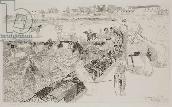 Horse Bath, 1954 (etching)