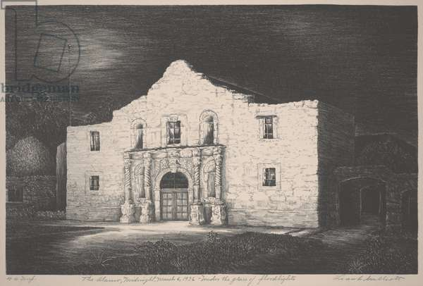 The Alamo, Midnight, March 6, 1936, 1936 (lithograph)