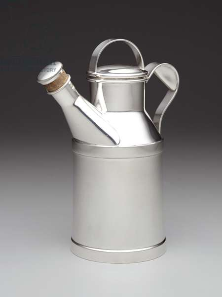 """Milk Can"" cocktail shaker, c.1935-83, designed c.1935 (silverplate)"