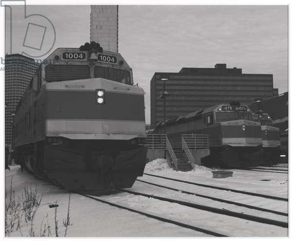 4:55 Departure, South Station, Boston MA, 1991 (gelatin silver print)