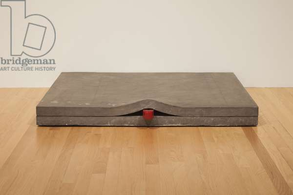 Untitled: Lead Piece with Wedge, 1968 (lead, steel & paint)