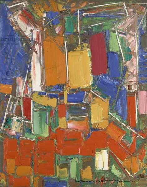 Red and Blue Harmony, 1956 (oil on canvas)