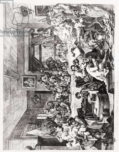 An Election Entertainment, Plate I, February 24, 1755 (engraving & etching)