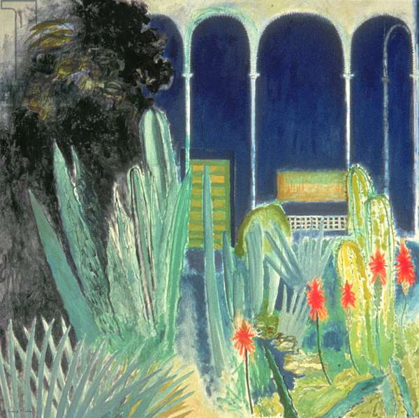 In the Majorelle Gardens (oil on canvas)