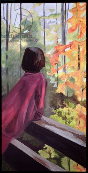 Alexandra (Meditation) (oil on canvas)