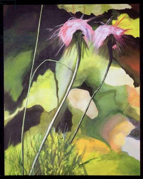 The Madwomen (Wild Anemones) (mixed media on canvas)