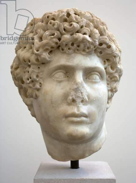 Head of a Youth, 150-200 AD (marble)