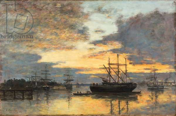 Bordeaux, In the Harbor, 1880 (oil on canvas)