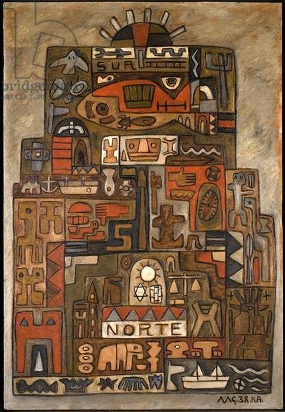 Norte (North), 1938 (oil on paperboard)