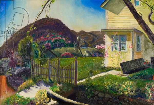 The Picket Fence, 1924 (oil on canvas)