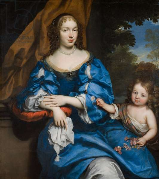 Portrait of a Lady with her Child, c.1660 (oil on canvas)