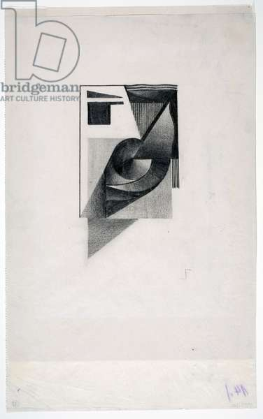 Abstract Composition, c.1924 (graphite on paper)