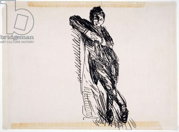 Young Boy, c.1900-20 (pen & ink on paper)
