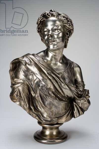 Capresse des colonies (Negress of the Colonies), 1861 (silvered bronze)
