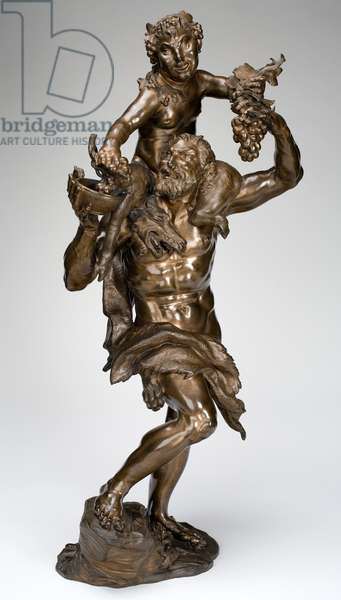 Faun and Satyr, before 1713 (bronze)