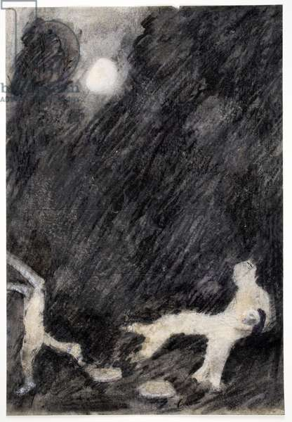 Untitled, 1973 (charcoal & pastel on paper)