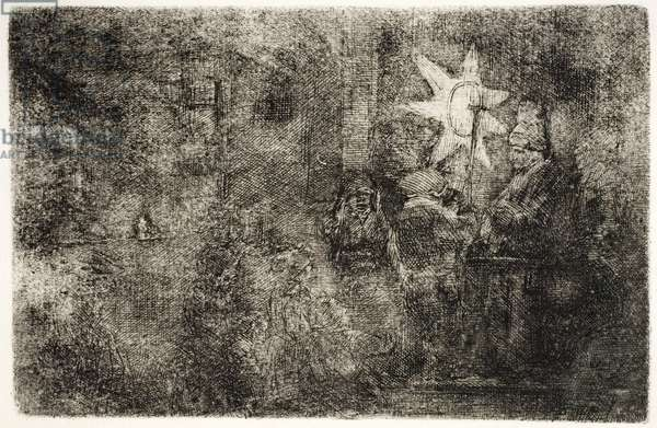 Star of Kings: A Night Piece, c.1652-54 (etching)