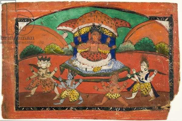 Sakti, mid-19th century (polychrome gouache on paper)