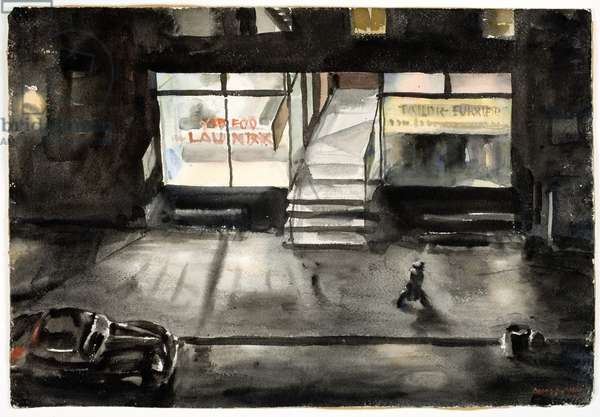Chinese Laundry (w/c on paper)