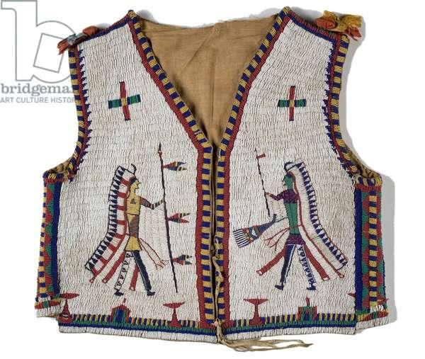 Vest, Lakota, c.1890 (leather & beadwork) (see also 753236)