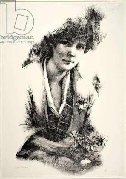 Katherine Mansfield (litho)