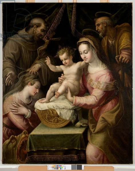 Holy Family with Saints Margaret and Francis, 1578 (oil on canvas)