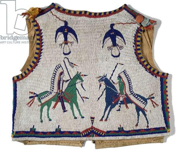 Vest, Lakota, c.1890 (leather & beadwork) (see also 753235)