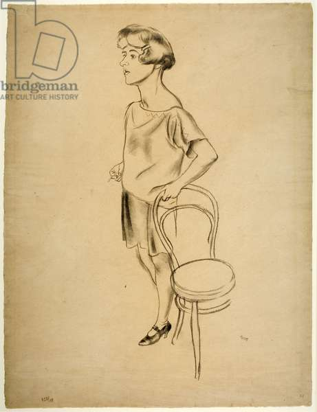 The Flapper, c.1925 (pencil on paper)