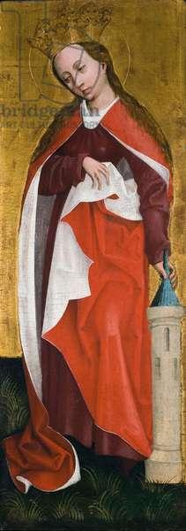 Saint Barbara, c.1460 (oil & gold leaf on panel)